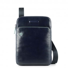 Piquadro - iPad®Air/Pro 9,7 crossbody bag with pen loop Blue Square - CA3978B2