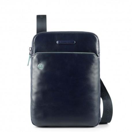 Piquadro - iPad®Air/Pro 9,7 crossbody bag with pen loop Blue Square - CA3978B2