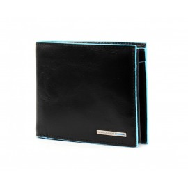 Piquadro - Men's wallet with coin pocket,credit card slots and double ID window Blue Square - PU3436B2