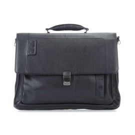 Piquadro - Flap-over, expandable computer bag with iPad®Air/Pro 9,7 compartment and CONNEQU - CA3111P15S
