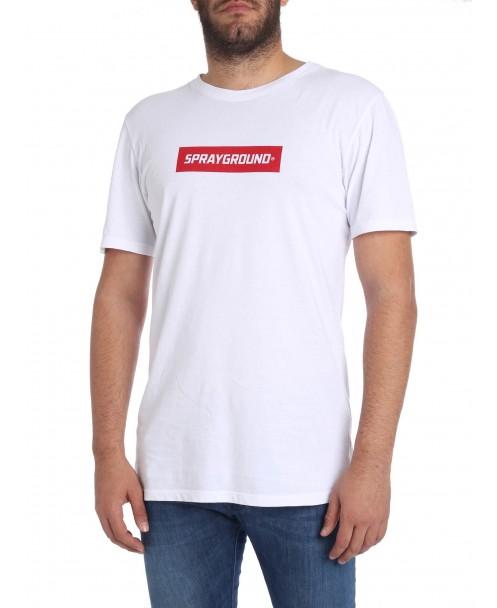 Sprayground - T-shirt con logo a contrasto - 09100T001