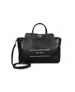 La Fille des Fleurs - Handbag with removable shoulder strap - Tiffany Fortuna Black Label