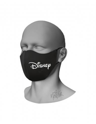 Mhateria - Black face mask with logo...