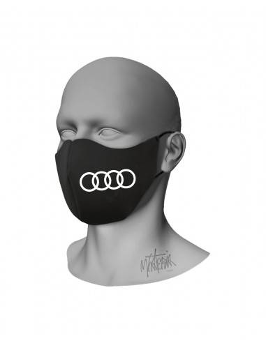 Mhateria - Black face mask with car...