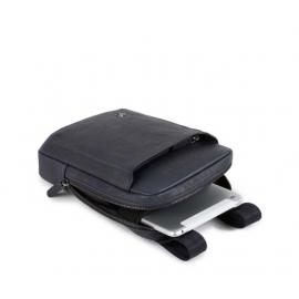 Piquadro - Organized pocket crossbody bag with iPad®mini compartment Black Square - CA3084B3