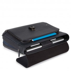 Piquadro - Flap-over, expandable computer bag with iPad®Air/Pro 9,7 compartment and CONNEQU - CA3111B3