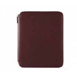 Piquadro - Leather slim notepad holder, A4 formatwith zipper and pen loop - PB1164B3/T
