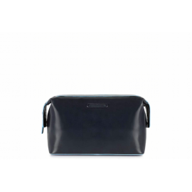 Beauty Case uomo Blue Square in pelle nero per viaggi  Mhateria.it