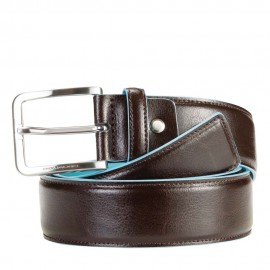 Piquadro - Men's belt with prong buckle Blue Square - CU3254B2