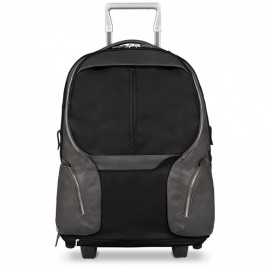 Piquadro - Cabin trolley with PC/ iPad®Air/Air 2 compartment,removable shoulder straps and rain protection Coleos - BV3148OS