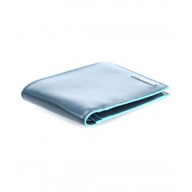 Piquadro - Men's wallet with coin case Blue Square - PU257B2