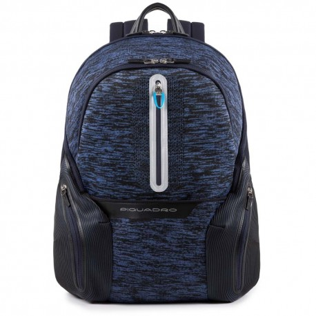 Piquadro - Laptop backpack with iPad®Air/Pro 9,7 compartment, USB and micro-USB enclosure, reflective detail Coleos - CA2943OS37
