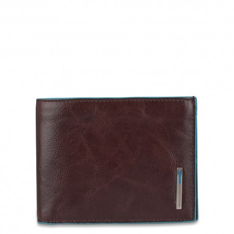 Piquadro - Men's wallet with document holder, card and banknote facility Blue Square - PU1517B2