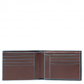 Piquadro - Portafoglio uomo con portadocumenti, comparti per banconote e carte di credito Blue Square - PU1517B2