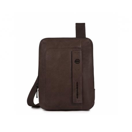 Piquadro - Organized pocket crossbody bag with iPad®mini compartment - CA3084P15S