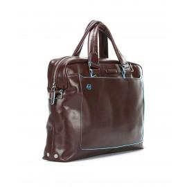 Piquadro - Double handle computer portfolio briefcase with iPad®Air/Air 2 compartment, umbrella/bottle pocket - CA3335B2