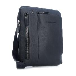 Piquadro - Borsello porta iPad®Air/Pro 9,7 con doppia tasca frontale chiusa da zip Black Square - CA1816B3