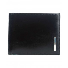 Piquadro - Men's wallet with coin case and credit card slots Blue Square -PU1239B2R