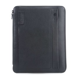 Piquadro - Slim notepad holder, A4 format, with zip and pen loop P15Plus - PB2830P15S