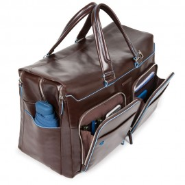 Piquadro - Duffel bag with computer and iPad®Air/Pro 10,5 compartments and umbrella pocket Blue Square - BV4342B2