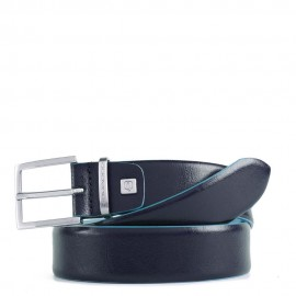 Piquadro - Men's belt with plaque buckle, light blue contrasting inside and edges Blue Square - CU4552B2