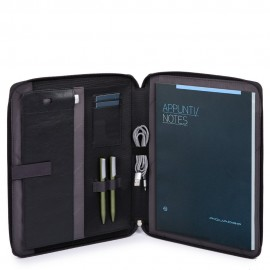 "Piquadro - A4 notepad holder with iPad®10,5''/iPad 9,7"" compartment, equipped with earphones Brief - PB4594BR"