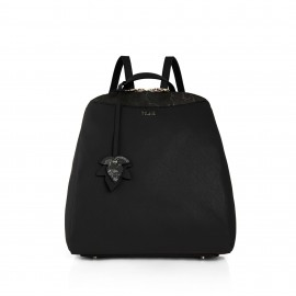 Alviero Martini - THE SOUND CITY SAFFIANO AND GEO NIGHT PRINT BACKPACK WITH EMBELLISHED LEAF DETAIL - LGL73N407