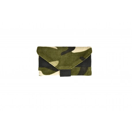 Handmade Tobacco Holder in camouflage velvet - 01