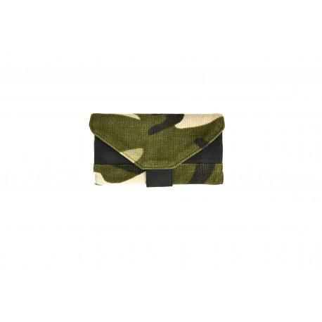 Portatabacco Artigianale in velluto camouflage - 01