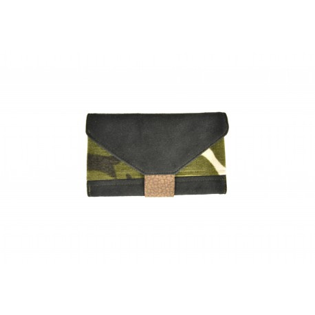 Handmade Tobacco Holder - black and camouflage velvet - 02