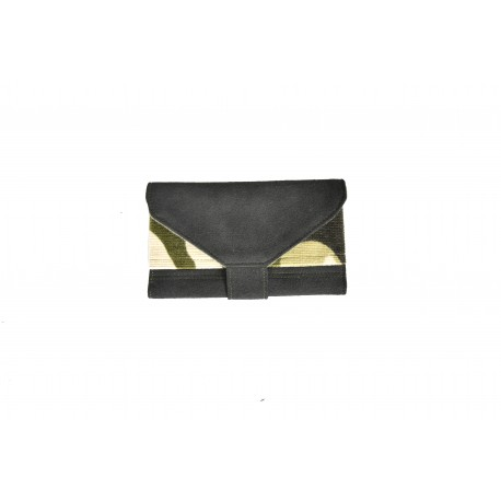 Handmade Tobacco Holder - black and camouflage velvet - 03