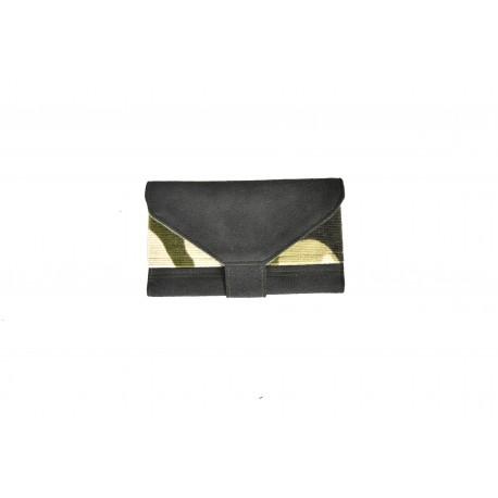 Handmade Tobacco Holder - black and camouflage velvet - 03