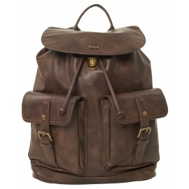 Sax - Leather backpack with double front pocket - SX1303