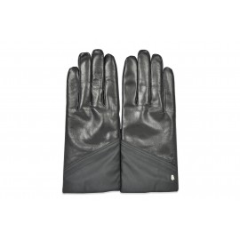 Cavalli Class - Man leather and nylon gloves - C83PMCQZ0027